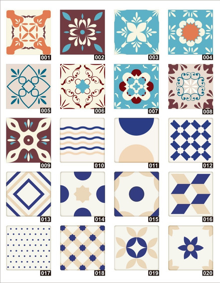 Azulejos Autoadhesivo Cocina 12 Un. 20x20 Sticker