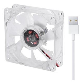 Ventilador Usb Cuadrado Base 5v Enfriadora 8 X 8 Cms