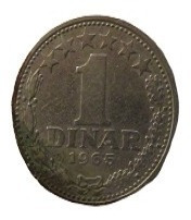 Moneda De Yugoslavia 1 Dinar 1965