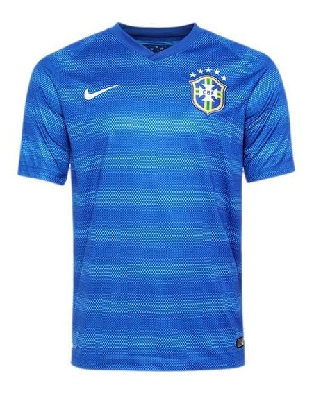 Camisa Oficial Brasil 2014 Azul Original Fifa-nike Torcedor