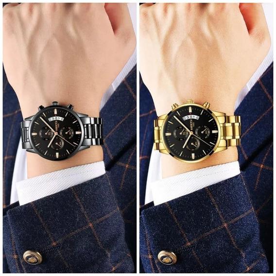 Relógio Nibosi Kit 1dourado 1preto Outras Cores A Escolha