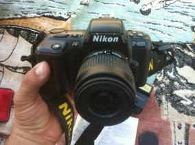 Câmera Nikon F-601 Fotográfica Analógica Lentes 35-80 Mm