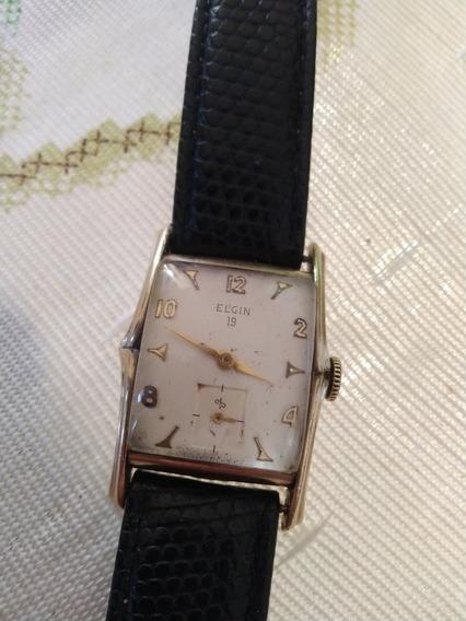 Relógio Elgin 19 Anos 50 10k Ouro.