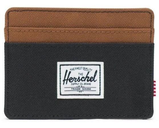 Billetera Herschel Charlie Rfid Black/saddle Brow De Hombre