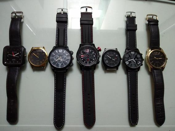 Relógios Masculino. 8 Unidades Bonitos Funciona Lote Coleção