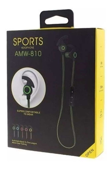 Fone De Ouvido Sports Headphone Amw-810 Bluetooth Estéreo.