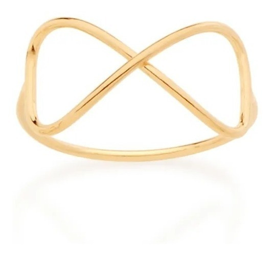 Anel Skinny Ring Infinito Folheado Rommanel 512564