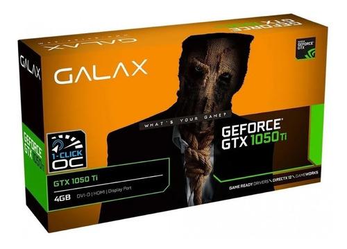 Imagem 1 de 5 de Placa De Vídeo Nvidia Galax  Geforce Gtx 1050 Oc  Ti 4gb