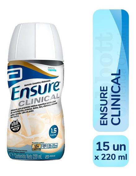 Ensure Clinical 220 Ml Vainilla Pack X 15 Unidades
