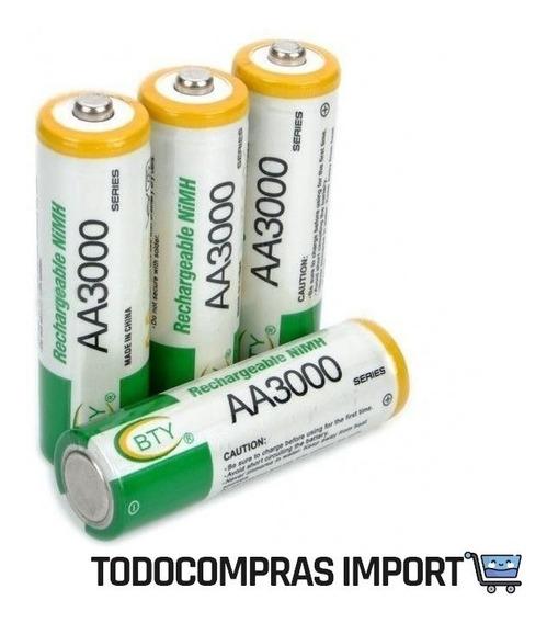 Pack De 4 Pares. Pilas Baterías Recargables Aa 1.2v Bty