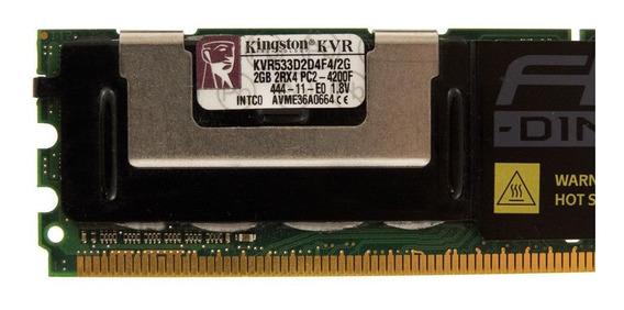 Memória Fb-dimm Kingston 2gb 533mhz Kvr533d2d4f4/2g