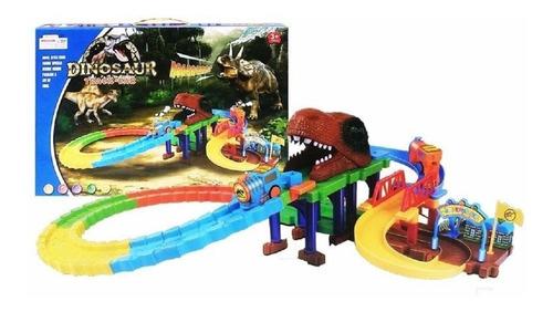 Imagen 1 de 2 de Pista Tren Electrico Dinosaurios