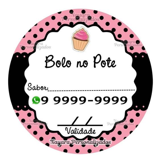 300 Etiquetas Adesivas Para Bolo No Pote 4x4 Cm