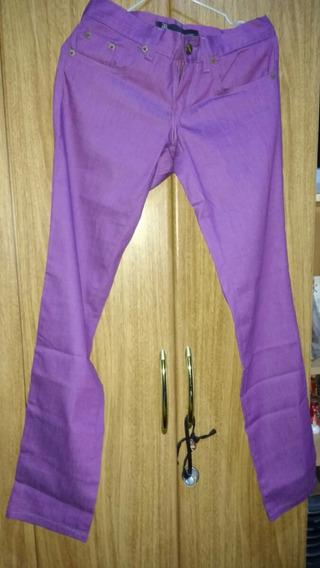 Pantalon De Gabardina Elastizada