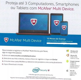 Mcafee Multi Device (3 Dispositivos)15 Meses! Envio Imediato
