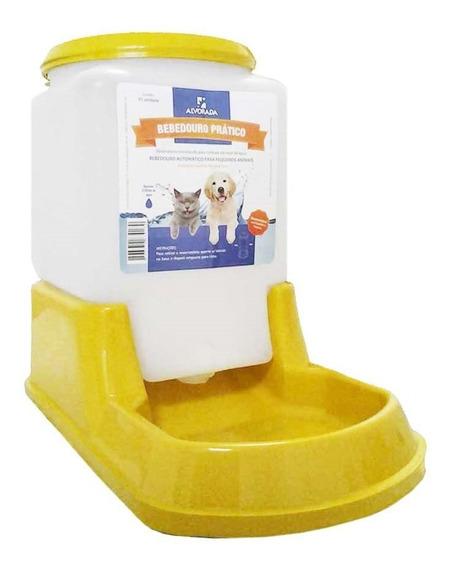 Bebedouro Automatico Para Cães E Gatos- Amarelo