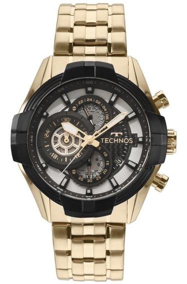 Relógio Masculino Technos Aço Dourado Js15ew/4p 48mm