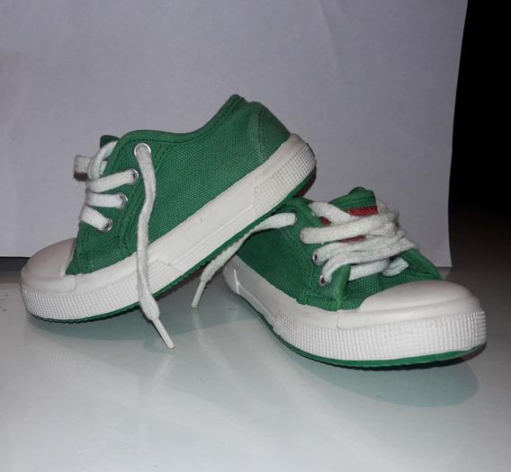 Zapatillas Mimo T22 Lona Verde.bebe.niños