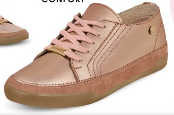 Zapato Dama 100% Piel,confort Transpirable Color Oro Rosado