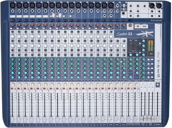 Mesa De Som Soundcraft Signature 22 Biv.garantia 1 Ano Nf-e