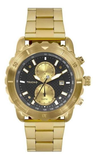 Relógio Touch Unissex Carbo Dourado Twos11ab/4p
