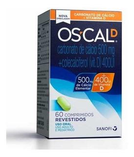 60 Comprimidos Oscal D 500 Mg + 400 Ui Pronta Entrega