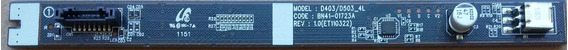 Placa De Funções Botões Samsung Ln40d503 Ln40d503f7gxzd