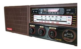 Rádio Antigo Companheiro 3 Fx Am/fm1/fm2 Retro Usb Bluetooth