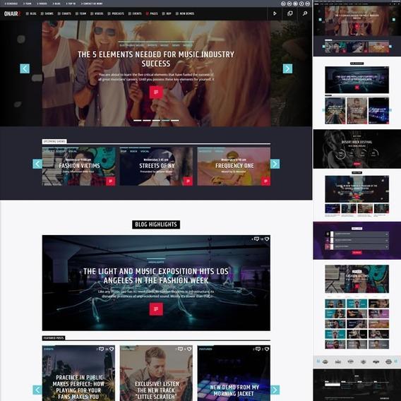 Site Pronto Rádio Online Wordpress Responsivo 854