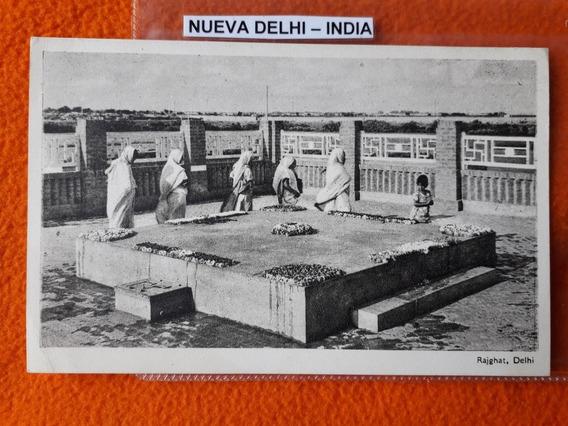 Antigua Postal De La Ciudad De Nueva Delhi La India