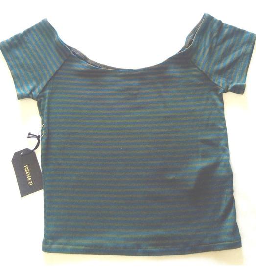Camisa Knit Top Crop - Forever 21