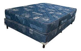 Sommier Maxiking Espejo de Luna 2 1/2 plazas 190x140cm azul