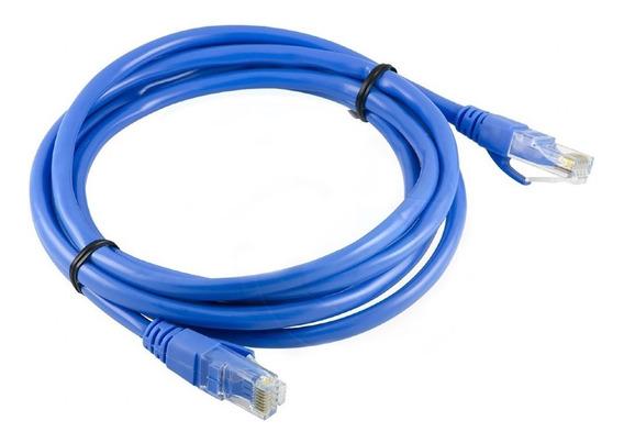 Cable De Red Utp Cat5 Netmak X 2 M 100% Cobre! Azulh1 I9
