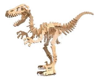 Rompecabezas Maqueta 3d Madera Dinosaurios Velociraptor