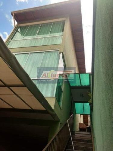 Sobrado Com 3 Dormitórios À Venda, 186 M²  - Parque Continental Ii - Guarulhos/sp - Ai14804