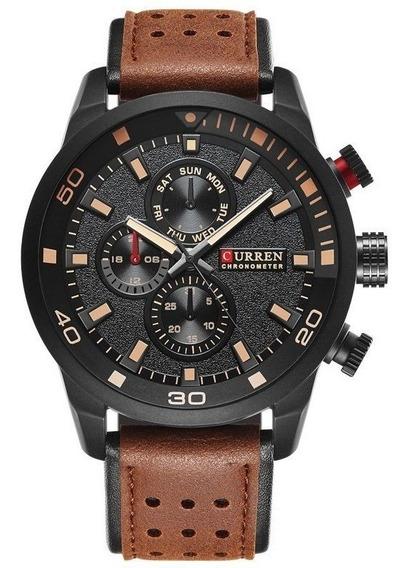 Relógio Masculio Curren M8250 Social Promoção C/ Nota Fiscal