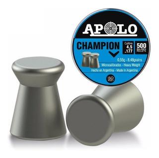 Balines Apolo Champion 4.5 Lata X500 Rifle Aire Comprimido