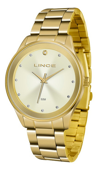 Relógio Feminino Lince Pulseira Aço Inox 50m Lrgj090l-c1kx