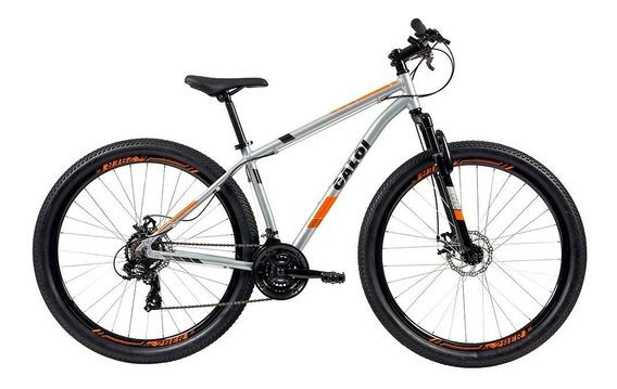Bicicleta Mtb Caloi Two Niner Alloy Aro 29 - 21 Vel Prata