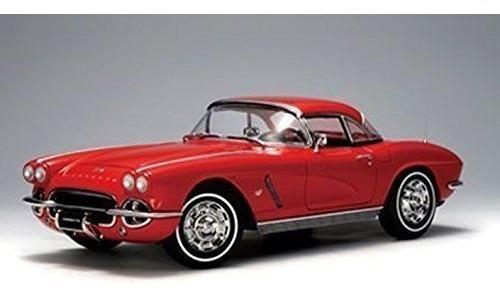Miniatura Chevrolet Corvette 1962 Vermelho Auto Art 1/18