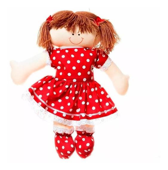 Boneca Menina Feita À Mão Vermelha Quarto Bebê Infantil Rosa