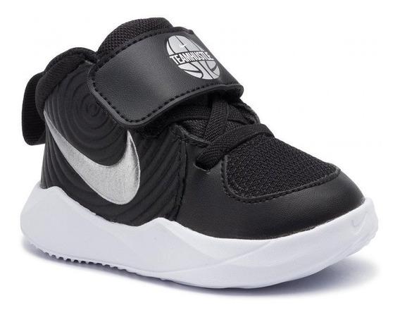 Tenis Nike Team Hustle D 9 (td) Negro/gris Bebe Aq4226-001