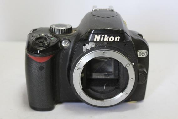 Câmera Digital Dslr Nikon D60 Sucata Para Retirada De Peças