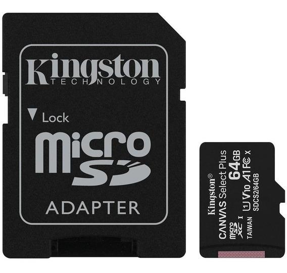 Cartão De Memória Kingston Canvas Select Plus Microsd 64gb