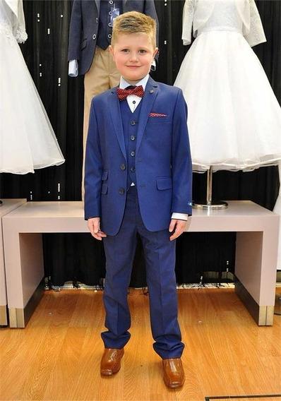 Terno Infantil Slim Topline Azul Bic + Sapato Infantil