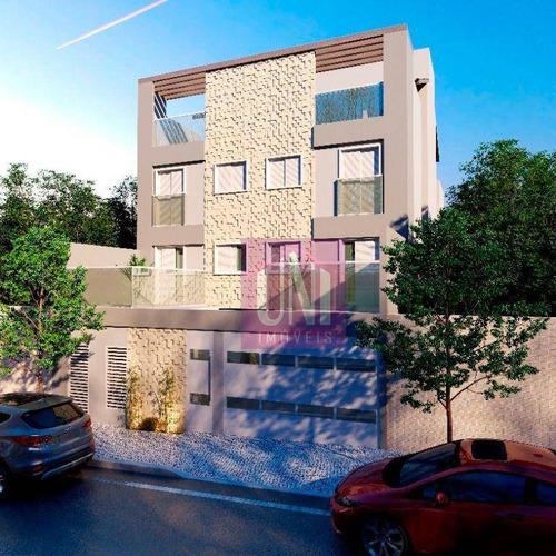 Cobertura Com 2 Dormitórios À Venda, 86 M² Por R$ 320.000,00 - Vila Junqueira - Santo André/sp - Co0827