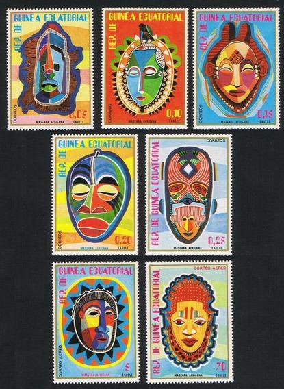 Guinea Ecuatorial 1977 Mascaras Africanas Completa Mint