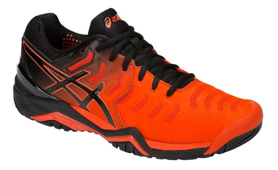 Tênis Asics Gel-resolution 7 Clay Laranja/preto