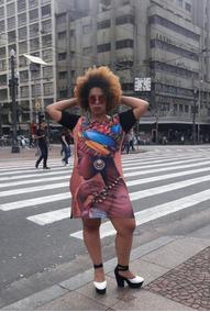 Vestido Moda Afro Tamanho Único Plus Veste Do 44 A 48 Outlet