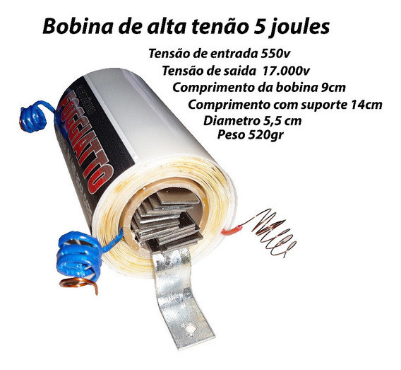 Bobina Para Eletrificador De Cerca Rural Alta Potencia 3un